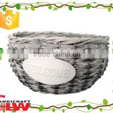 willow garden plant pot wholesale, garden flower basket, garden tool storage basket without handle