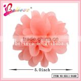 Paypal acceptable best price factory wholesale handmade chiffon flower fancy hair clips (XH11-8468)