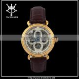 High Quality Mechanical IP-Rose Gold Business Men Skeleton Watch Cases With Tourbillon