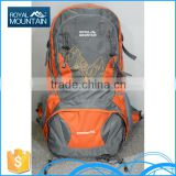 China OEM customize outdoor hiking camping 8251a 55L jean sports backpack with great price