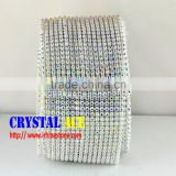 Best Price Elastic Crystal Stone Mesh Trims, Stetch Crystal Stone Band Mesh Rolls Wholesale for women bags decoration