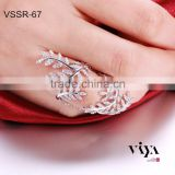 Top Quality Turkish Wholesale Fashion Rhodium Plated Jewelry, 925 Sterling Silver Ring