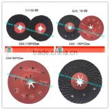 16#-120# 4''-7'' silicon carbide grooved sand disc/abrasive disc