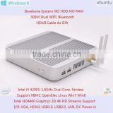 Computer Intel i5 Core 1.6GHz HD4400 Graphics Mini Alloy Case 15W Barebone Nettop 4K HD Streaming Realtek Gigabit LAN 4 USB3.0
