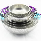 Stainless steel punching basket/ smesh basket/steel plate colander/ tainless steel plate kitchen basket/ sink strainer/
