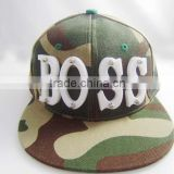 New Hip Hop Acrylic letter camouflage adjustable Baseball Snapback Caps Hats Mens