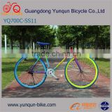 rainbow color 700C fixie gear bike/ Wholesale Price Track Bike/ cheap fixed gear bicycles