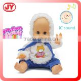 Chrismas item 14 inch vinyl baby winter style speaking doll with EN71