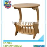 China good price small cute wood magazine display racks for home, school,shop etc#SP-P001