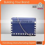 S147 Navy Blue PU Synthetic Leather Evening Clutch for Women                                                                         Quality Choice