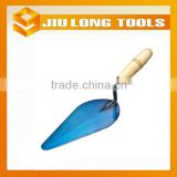 blue blade wood handle brick laying trowel which building materials tools