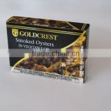 High quality Canned Smoked Oysters in soybean oil