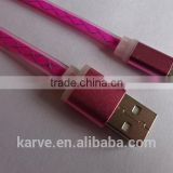 Original quality aluminium braided micro data/usb cable for android phone
