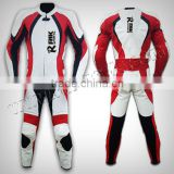 Motorbike Real Leather Suit Motorcycle Clothing Leather Racing Suit Best Cowhide Genuine Leather 1.3 to 1.4mm