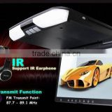"15""Car Roof Mount Dvd Player Lcd Monitor/ Divx Dvd Player Ir Fm Sender Transmitter Flip-down Drop-down Overhead Screen"