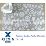 Manufacturer of fashion plastic placemats with customized offset printing