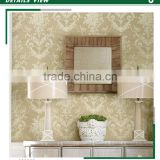 foaming non woven wallpaper, pastoral flower wallcovering for room , waterproof wall covering maker