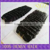 Wholesale 100% Indian Remy Human Hair Extension 18 inch Deep Wave #1B Off Black Hot Sale