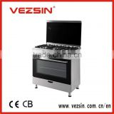 5 gas burner,90*60, Free-standing gas cooker,cooking ranges, oven, gas,electric
