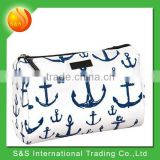 Women bags clear coated cotton basics cotton cosmetic bag