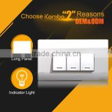 western 3 Gang 1 Way timer funny pretty plastic light electric wall copper switch plates covers