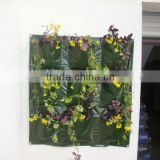 Plastic Vertical Wall Planter, Durable Hanging Wall Planter Bags,Hanging Wall Grow Bags With Pocket For Herb/Flower
