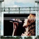 P10 Outdoor LED display screen with Aluminum hanging cabinet