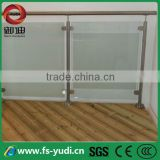 ornamental stainless steel balustrade and handrails glass clamp