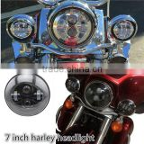 "7"" LED Projection Head Light Lamp For Harley Davidso-n Touring 1200 Electra Street Glide Stickers Softail Road King"