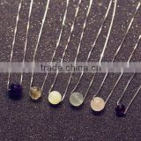 Unique Handmade Natural Stone Necklace Semi Precious Stone With 925 Silver Chain Jewelry                                                                         Quality Choice