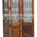 wooden screen,partition,room divider screen,home decor,indian wooden furniture,home furniture,mango wood