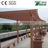 water proof, fire proof enviromental friendly outdoor wpc pergola with CE SGS certifications