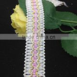 white pink wave gimp trim clothing decoration gold braid lace trims