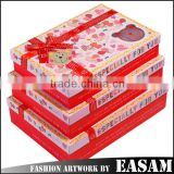 Three sets creative delicate paper gift box/custom gift box/gift box packaging