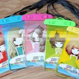 Hot sell new products durable eco-friendly 100% seal PVC mobile phone waterproof dry bag for girl(BLY8-0209WB)