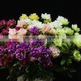 Five heads artificial antumn silk peony flowers wholesale door decoration