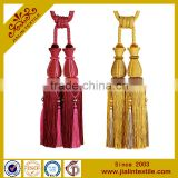 Curtains designs rayon material acrylic bead curtain tassel tieback decoration for home garden