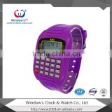 calculator watch for kids with rubber colorful digital