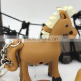 New arrival Custom Horse LED Keychain With Sound Light Key Holder