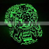 funny hat with led light flat brim snapback Light in the Dark fluorescent baseball cap hiphop cap