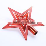 Latest Arrival unique design Cheap gold five-pointed star decorated christmas trees with many colors
