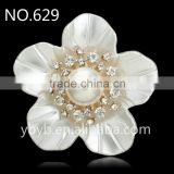 resin flower artificial plastic flower pearl embellished jewelry accessories girl dress patterns in bulk-629