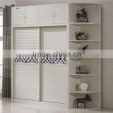 Latest Cheap Wooden Wall Bedroom Wardrobe Designs Closets Cabinet Liding Door With Wheels