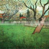 Pictures View of Arles with Trees in Blossom by Van Gogh for living room decoration artwork