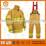 Safety firefighting EN 469 standard firefighting clothing/uniform with 4 layer structure Aramid material-Ayonsafety