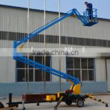 Factory trailer mounted towable spider boom lift/arm lift/sky lift table with diesel engine