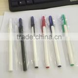 Simple cheap hotel use plastic ball point pen with logo