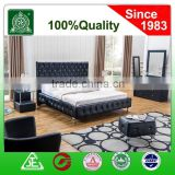 13073B soft bedroom set/PU night stand/PU dressing table/faux leather bed mattress set