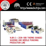 WJM-2 nonwoven glue free wadding line,nonwoven machines,polyester microfiber wadding production line