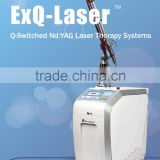 High cost - perormance easy work long time continues CE approved Q Switched Nd yag laser vertical laser tattoo removal machine
